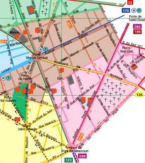 kylie map of paris