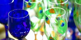 montreal gift show art goblets wine crafts
