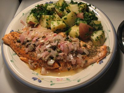 pink trout parsley potatoes
