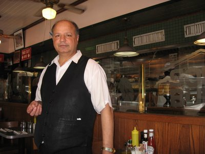 manhattan soup burg inside the diner on Madison Ave