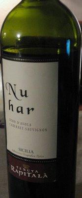 Tenuta Rapitalà Nuhar Nero d'Avola Cabernet Sauvignon 2003 nu har