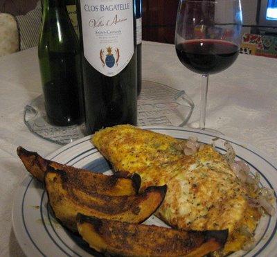 acorn squash recipe egg omelette dish poivron recette