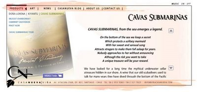 cava submarinas wine web site