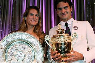 wimbledon equals roger federer amelie mauresmo championships 2006