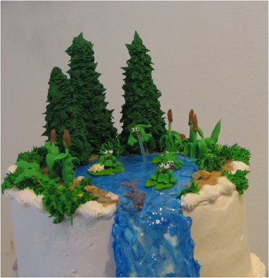 how to make piping gel look like water