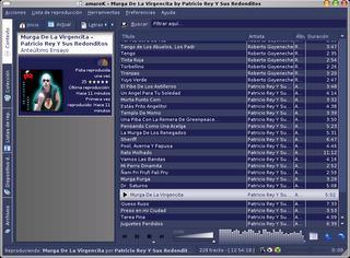 amaroK screen de Kubuntu