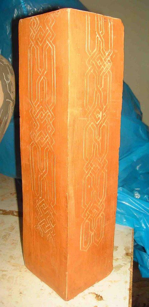 Alfareria Y Ceramica Decoracion Con La Tecnica De Esgrafiado