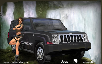 jeep commander teams up with lara croft. Cars Review. Best American Auto & Cars Review