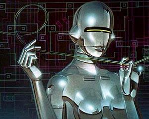 Ilustración erótica de Hajime Sorayama