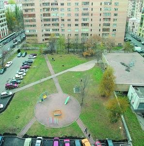Typical Russian yard