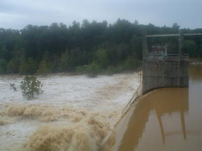 South Rivanna dam the day after Hurricane Isabel, Sep 19 2003