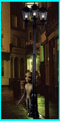 Alien Behind Street Light