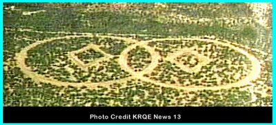 Circles in New Mexico Landscape