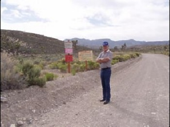 Dennis at Entrance Area 51