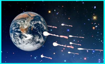 Earth Passes Through Meteors