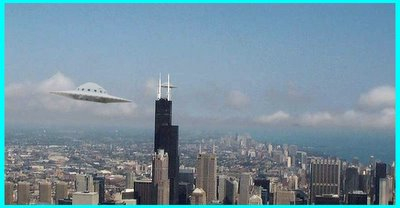 Flying Saucers Near Sears Tower