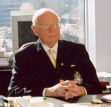 Paul Hellyer in His Office
