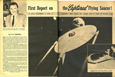 Sir Magazine Sept 1954 First Report On Caprured Saucer (2 & 3)