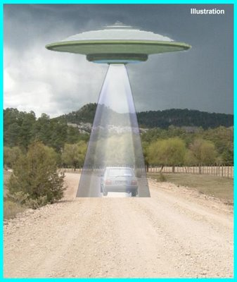 UFO Beam on Car