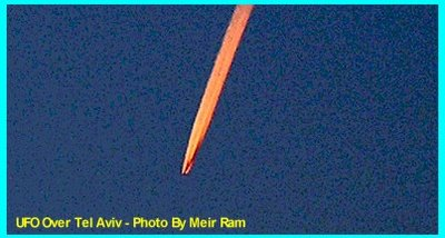 UFO Over Tel Aviv - Photo By Meir Ram