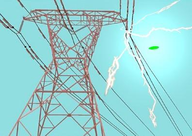 UFO Over Transmission Lines