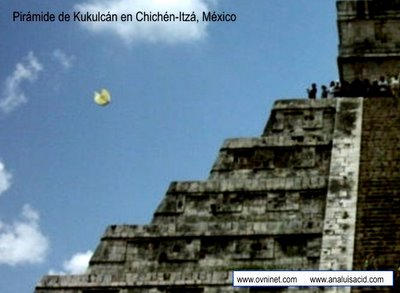 UFO Photographed Over Chichen-Itza, Mexico