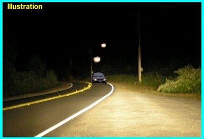 UFOs Chasing Car