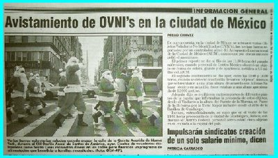 UFOs Reported in Mexican Paper