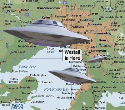 Westall Map With Saucers