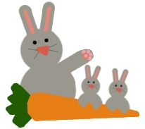 Rabbits and carrot