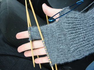 Glove First finger knitting