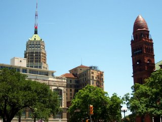 downtown buildings- courthouse and tower of life