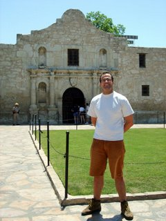 Andy outside the Alamo