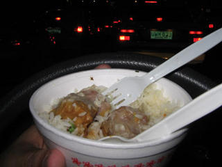 Siomai and Rice