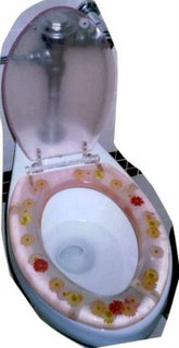 Flowered Toilet Seat