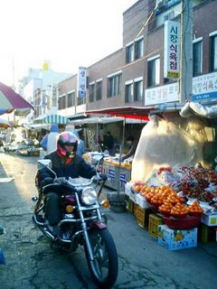 Motorcycle in Market