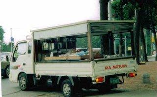 Bongo Truck Selling Fruit