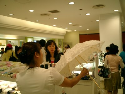 Shopping for Parasols