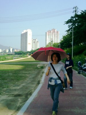 Walking with a Parasol