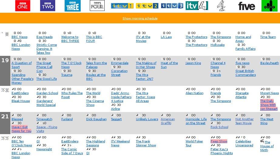 itv4 schedule
