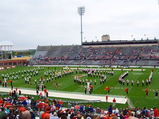 BGSU marching band warming up the spectators before today's game