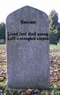 Tombstone of Kimveer Gill