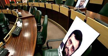 Empty Palestinian parliament