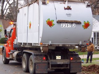 City of Toledo leaf truck
