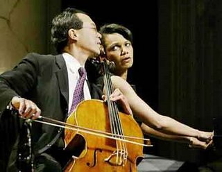Condoleeza Rice on Piano with cellist Yo-Yo Ma