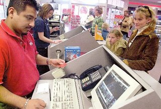 computer clerk at Circuit City