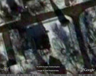 Google Earth image of my backyard