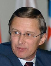 Russian defense minister Sergei Ivanov