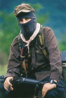 Subcomandante Bob posing for photo shoot
