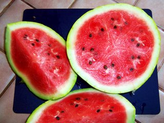 Sliced watermelon on my kitchen counter